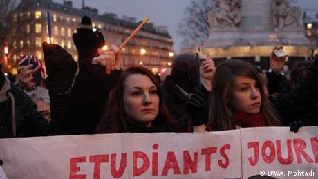 Paris Anschlag auf Charlie Hebdo (Bildergalerie) Gedenken
