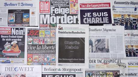 Frankreich Anschlag auf Charlie Hebdo - Titelseiten in Deutschland