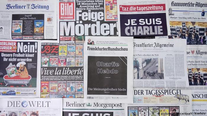 Первые страницы немецких газет в четверг, 8 января