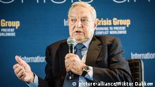 Hungarian born US billionaire philanthropist and Chairman of the Soros Fund Management LLC George Soros gives a speach during the meeting of International Crisis Group Working to Prevent Conflict Worldwide in Brussels, Belgium on 23.10.2014 by Wiktor Dabkowski