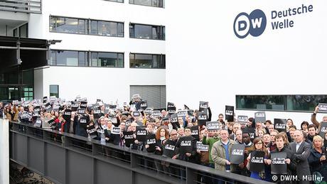 Solidarität der DW Mitarbeiter - Je suis Charlie NEU
