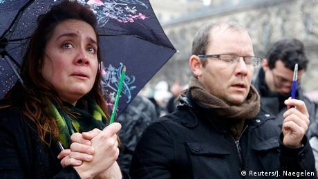 Anschlag auf Charlie Hebdo - Schweigeminute in Paris