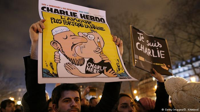 Frankreich Anschlag auf Charlie Hebdo Karikatur