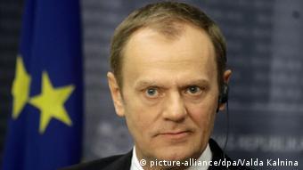 EU-Ratsvorsitzender Donald Tusk in Lettland 9.1.2015