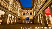 Florenz Innenhof der Uffizien