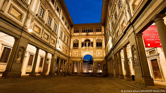 The Uffizie gallery in Florence