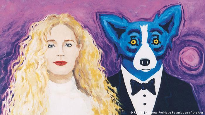 Painting Wendy and Me George Rodrigue (REUTERS/George Rodrigue Foundation of the Arts)