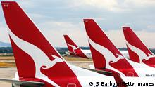 MELBOURNE, AUSTRALIA - FEBRUARY 25: Qantas aeroplanes wait at Melbourne Tullamarine Airport on February 25, 2014 in Melbourne, Australia. On Thursday Qantas will announce their half year results, media reports suggest part of those announcements will include a large number of job cuts and the sale of their Melbourne terminal. (Photo by Scott Barbour/Getty Images)