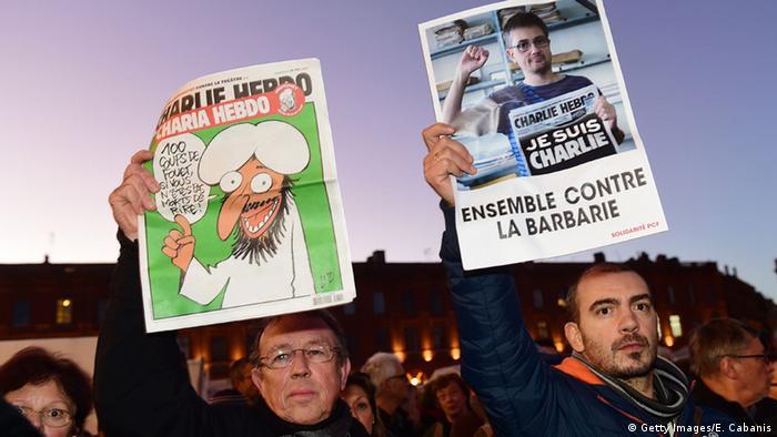 Gedenken an den Anschlag auf Charlie Hebdo in Paris (Getty Images/E. Cabanis)