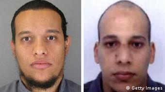 Die Pariser-Attentäter Said Kouachi (links) und sein Bruder Cherif Kouachi (Foto: Direction centrale de la Police judiciaire via Getty Images)