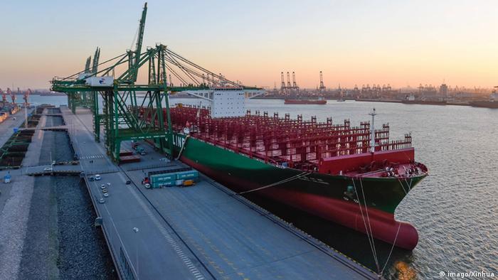Das Containerschiff Globe Archiv