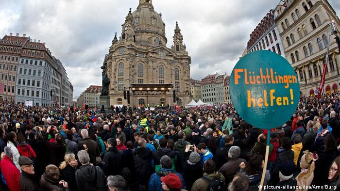 Жители Дрездена выступили за толерантность. Январь 2015 год
