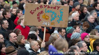 Dresden Kundgebung Pro Einwanderung Anti Pegida Demonstration 10.01.2015