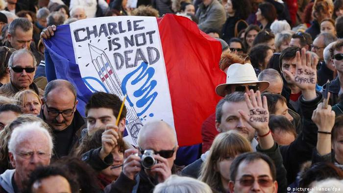 Frankreich / Charlie Hebdo / Demonstration