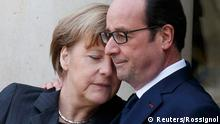Merkel und Hollande in Paris 11.1.2015 (Reuters/Rossignol)