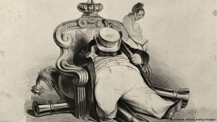 Невтішний образ монарха на цій літографії в журналі La Caricature від 1834 року
