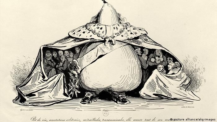Літографія Оноре Дом'є: король Луї-Філіп І загрібає все під себе