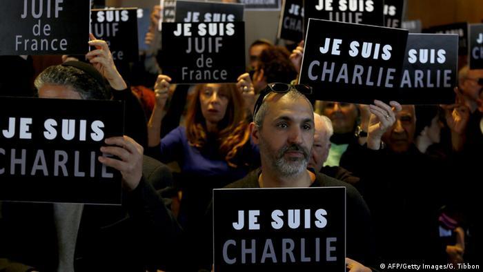 Trauermarsch zu den Anschlägen von Paris in Jerusalem