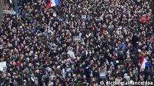 ©PHOTOPQR/LE PARISIEN ; MARCHE REPUBLICAINE A PARIS EN HOMMAGES DES VICTIMES DES ATTENTATS DE CHARLIE HEBDO, DE MONTROUGE ET DE LA FUSILLADE DE PORTE DE VINCENNES / PLACE DE LA REPUBLIQUE 2015/01/11. Unity rally in tribute to victims of Charlie Hebdo's attack on January 11, 2015.