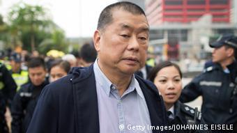 Jimmy Lai, salah seorang pengusaha media di Hong Kong yang ikut bergabung dengan kelompok pro-demokrasi.