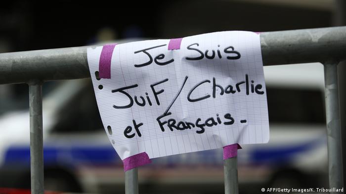 Frankreich Trauer Anschlag 10.01.2015
