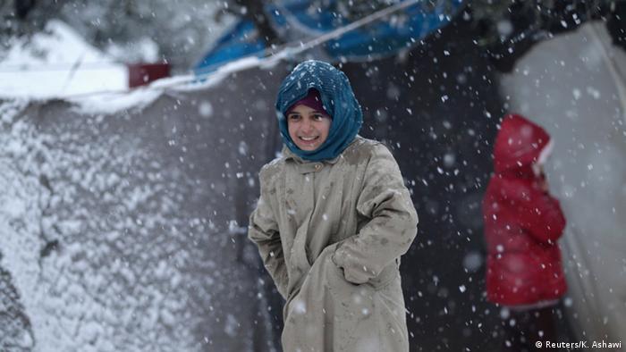 Kind im Flüchtlingslager Idlib in Syrien.