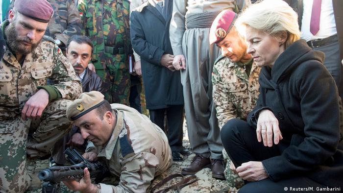 وزیر دفاع آلمان، اورزولا فون در لاین روز ۱۲ ژانویه ۲۰۱۵ از کمپ آموزشی زیروانی در نزدیکی اربیل دیدن کرد. در این کمپ مربیان آلمانی به نیروهای کرد آموزش نظامی میدهند