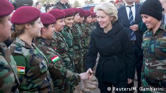 Ursula von der Leyen bei Erbil 12.01.2015
