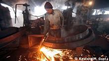 Indien Fabrik Arbeiter 12.01.2015