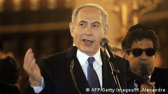 Israel Premierminister Natanjahu in der Großen Synagoge in Paris 11.01.2015