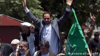 Salahuddin Rabbani bei einer Demonstration in Kabul (Foto: ap)