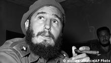 Kuba Fidel Castro mit Zigarre