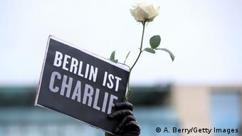 Schild 'Berlin ist Charlie' (Foto: Getty Images)