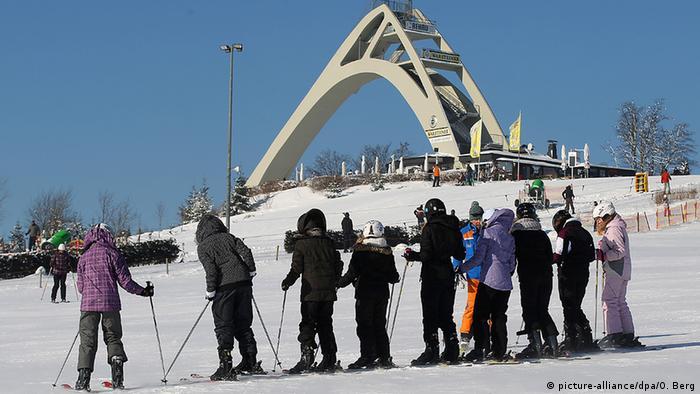 Deutschland Wintersport Wintersportgebiet Kälte in Winterberg