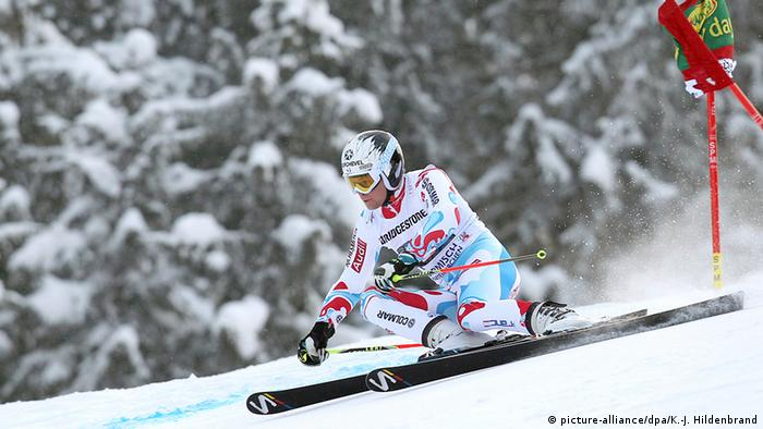 Deutschland Wintersport Wintersportgebiet Ski alpin - Riesenslalom in Garmisch-Partenkirchen