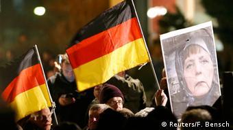 Deutschland Demonstration PEGIDA in Dresden