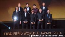 FIFA Ballon d'Or Gala FIFA/FIFPro World XI-Weltauswahl 2014 12.01.15