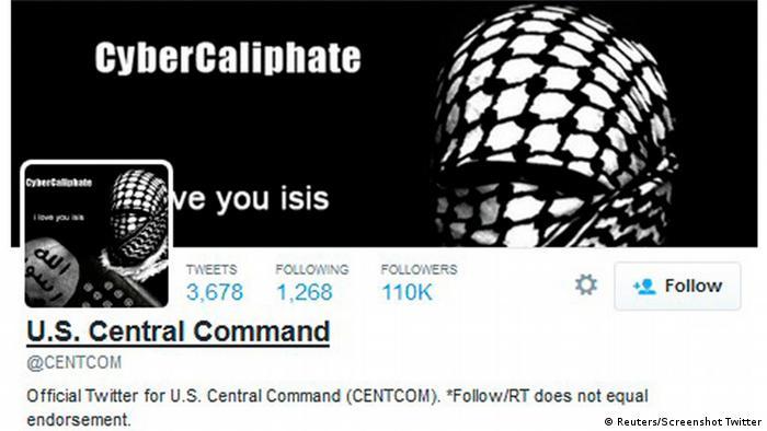 Conta no Twitter do comando militar dos EUA para o Oriente Médio sofre ataque
