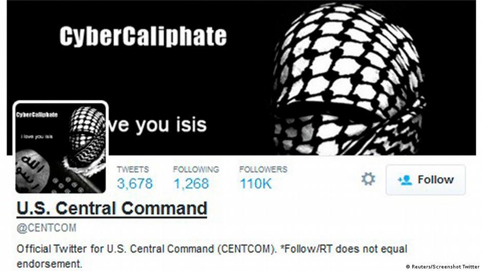 تقارير: داعش يخترق حسابي القيادة الأمريكية على تويتر ويوتيوب   DW   12.01.2015