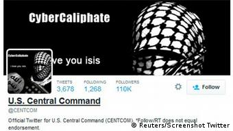 Screenshot Twitter Centcom Hack 12.01.15