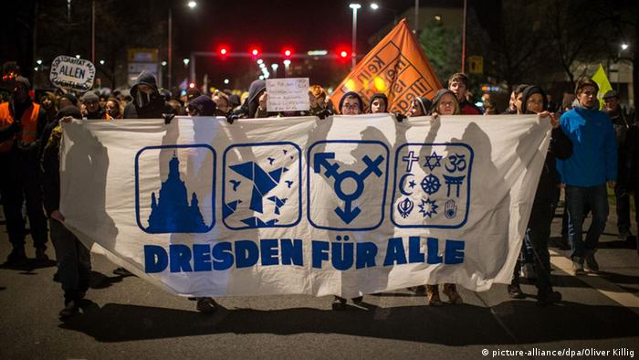 Dresden Anti-Pegida Demonstration 12.01.2015