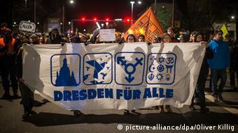 Dresden Anti-Pegida Demonstration 12.01.2015