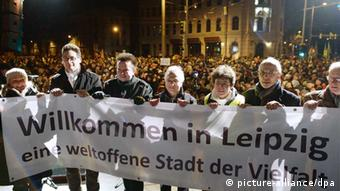 Anti-Pegida-Proteste in Leipzig