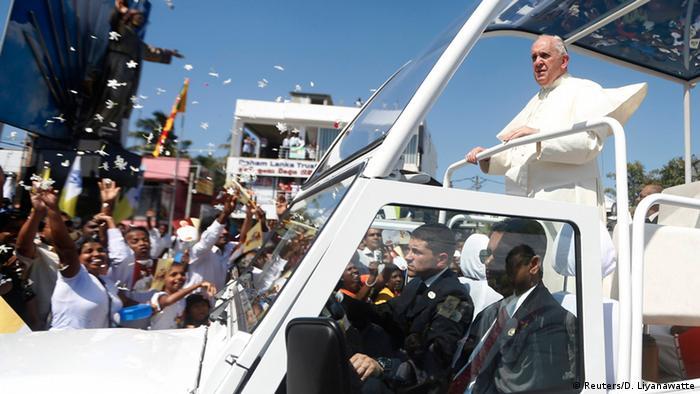 Pontifex auf Reisen Der Papst in Sri Lanka  Alle Inhalte