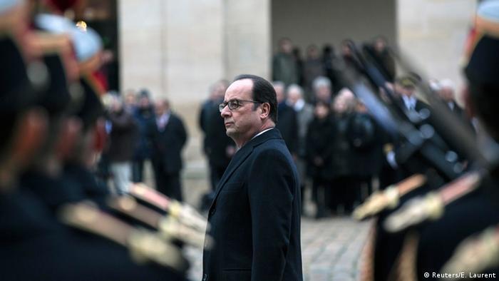 Beerdigung der ermordeten Polizisten in Paris 13.01.2015