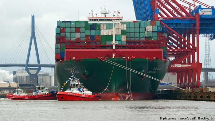 Containerschiff CSCL Globe