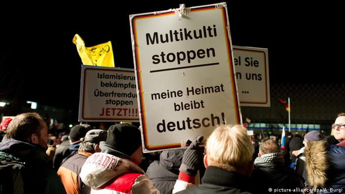Dresden Pegida Demonstration 12.01.2015