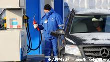 Russland Tankstelle in Moskau