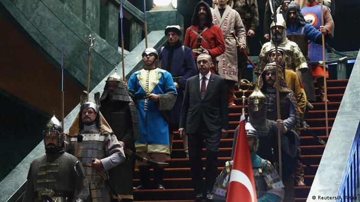Türkei Staatschef Erdogan Empfang von Palästinenserpräsident Abbas 12.01.2015