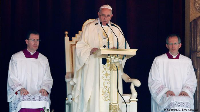 Papst Franziskus Messe in Colombo 14.01.2015
